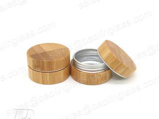 30g Bamboo Cover Aluminum Cosmetic Jar