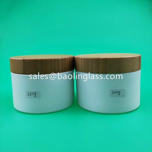 200g 250g Bamboo cover pet jar