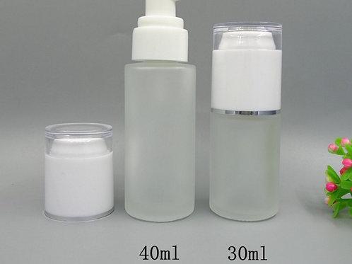 30ml 40ml 50ml 60ml cosmetic glass water/lotion bottle