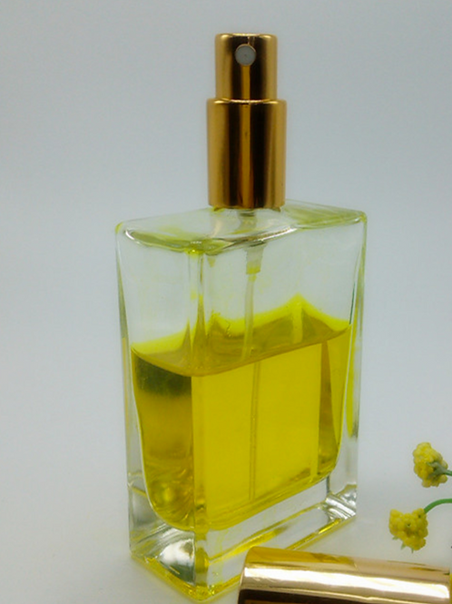 100ml square perfume glass bottle with spray cap
