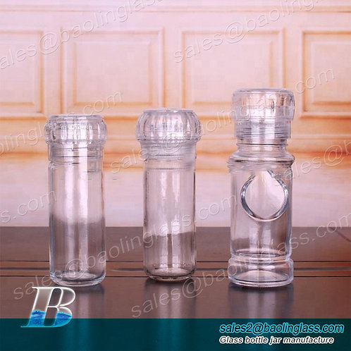 100ml glass spice salt and pepper grinder bottle jar