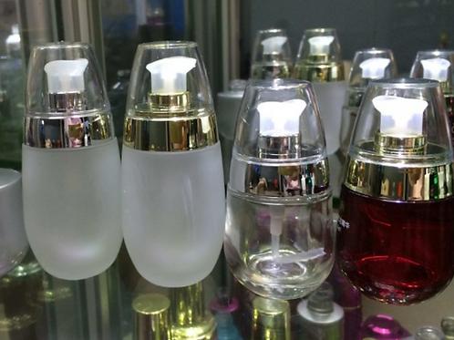 50ml violet purple glass serum foundation bottle
