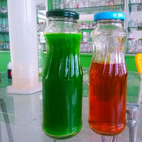 Orange flavor Basil Seed Juice in 300ml glass bottle