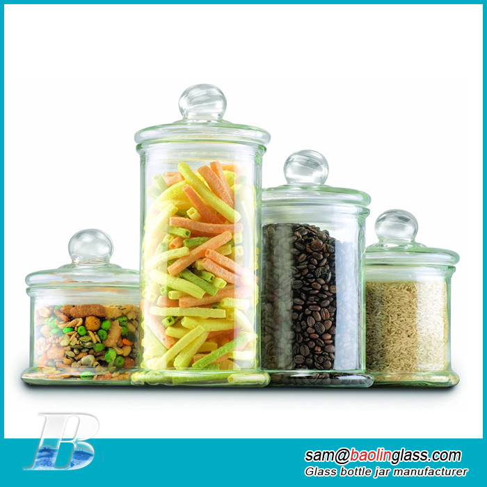 Apothecary Jar Canister Set with Ball Lid