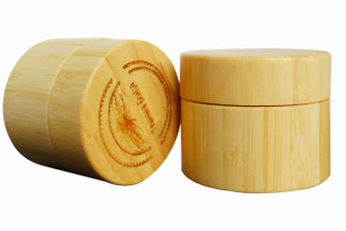30g wooden cosmetic packaging bamboo cream jar with wooden lid