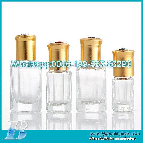 3ml 6ml 12ml attar oud oil glass bottle with roller cap