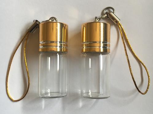 2ml mini glass jar with hanging