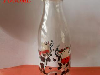 Custom logo 1000ml fresh milk glass bottle