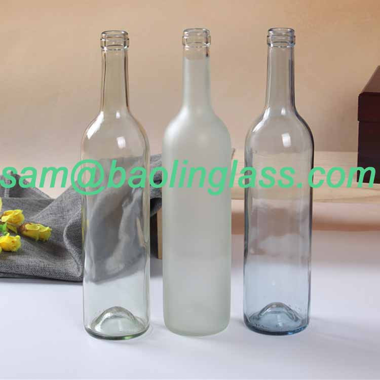 750ml vodka glass bottle