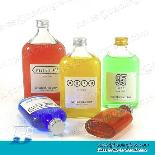 Wholesale 50ml 100ml 200ml 250ml 350ml 500ml clear glass empty drink bottle