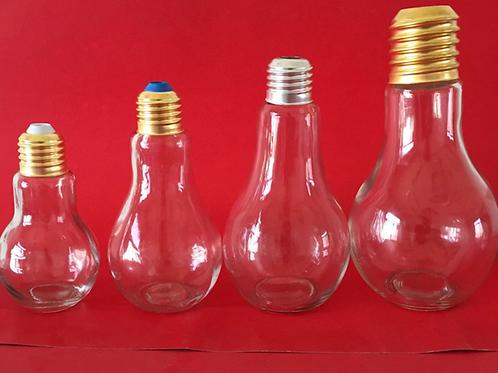 250ml 400ml light lamp bulb shape glass bottles for beverage milk