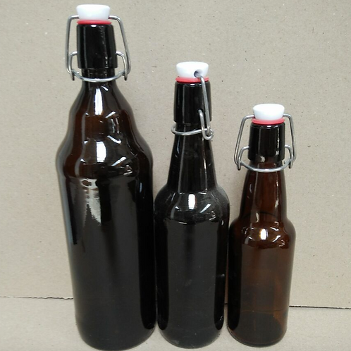 330ml 500ml 1000ml amber swing flip beer glass bottle