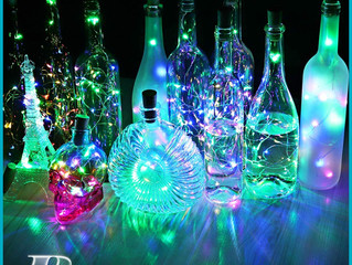 Colorful LED Wine Bottle Lights with Cork