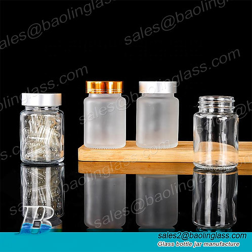 60ml 100ml 120ml clear frosted empty wide mouth pill capsules tablets powder