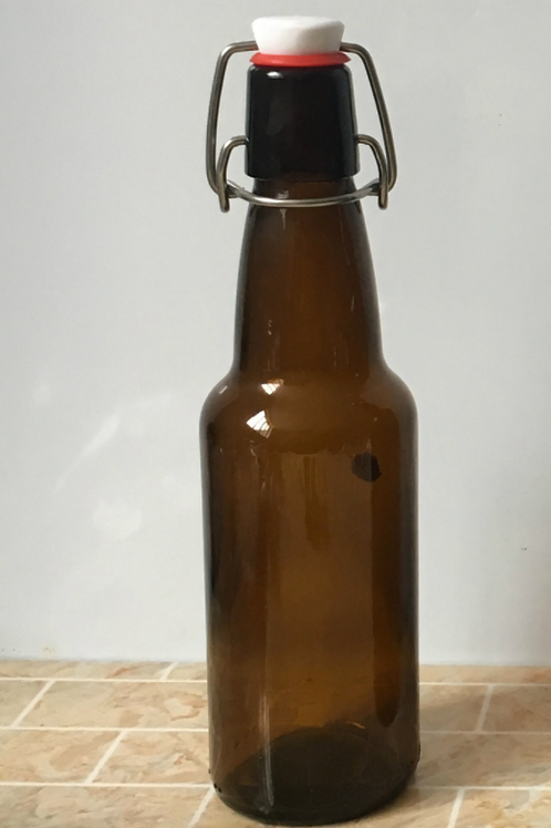 330ml swing flip amber beer glass bottle