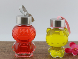 Hello kitty drinking glass bottle