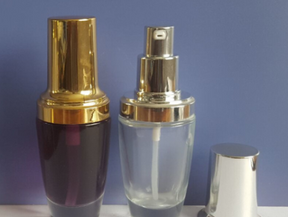 30ml cosmetic foundation liquid pump glass bottle