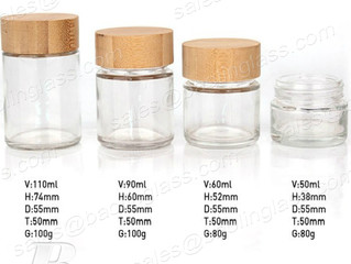 Straight Glass Bottle with Bamboo Lid