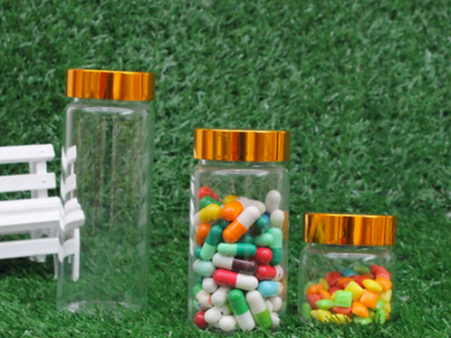 Glass medicine pill or capsule bottles
