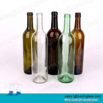 750ml Wine Glass Bottle with Cork