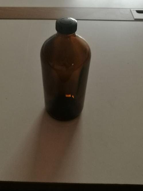 16oz 500ml amber/brown boston glass bottle