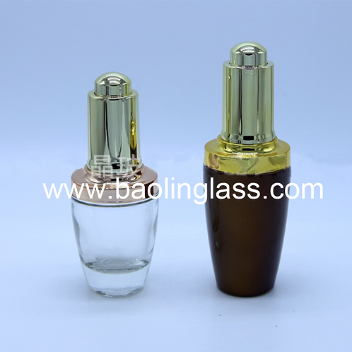 20ml 30ml cosmetic toner water glass bottle