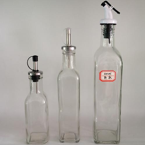 16 oz Olive Oil Glass Bottle With Pourer