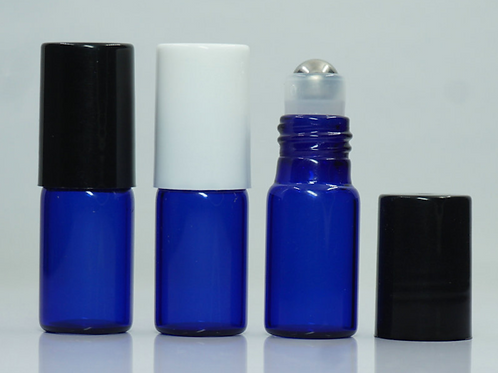 3ml blue glass roll on bottle