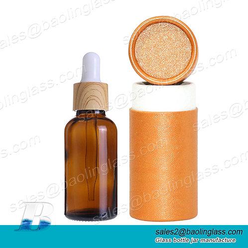 15ml 30ml bamboo dropper empty perfume bottle round perfume bamboo bottle