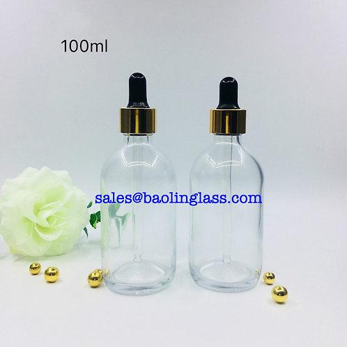 24K Gold Shot Ampoule 100ml Glass Dropper Bottle