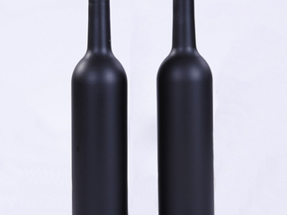750ml matte frosted black vodka glass bottle