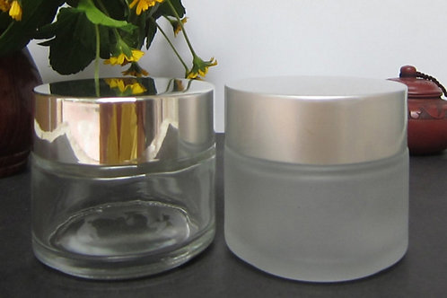 50g 100g skin cream frosted cosmetic glass jar