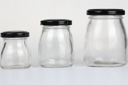 100ml glass pudding jar