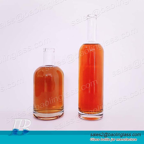 750ml 1000ml Wholesale Empty Super Flint Clear Glass Liquor Bottle