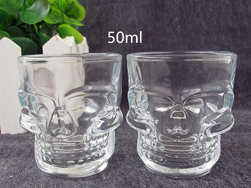 50ml Drinking Novelty Skull Shot Glasses