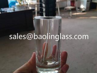 100ml cylinder round perfume glass bottle