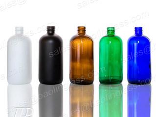 Supplier 500ml Boston Bottle Amber/Blue/Green/Black/White Color