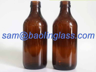 300ml amber syrup bottle