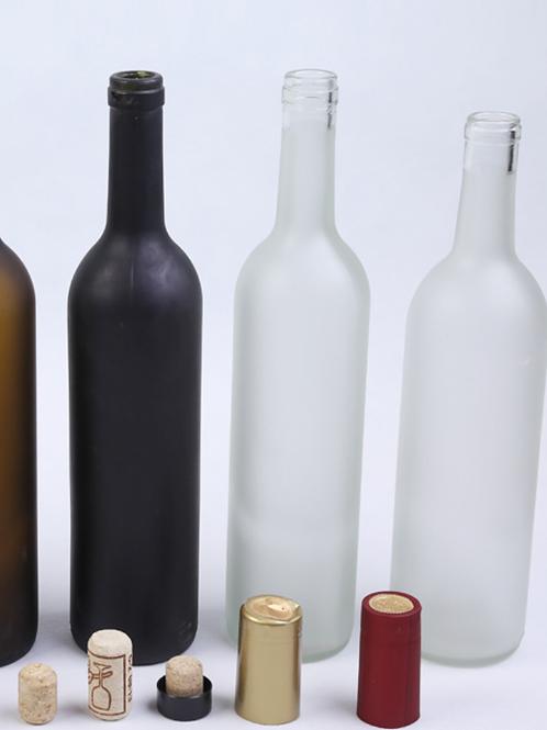 750ml frost vodka whisky glass bottle