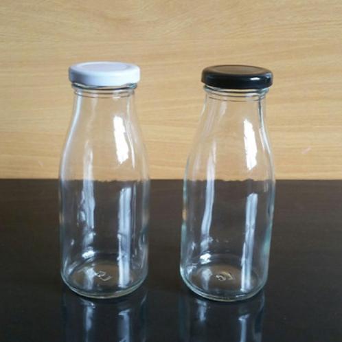 200ml 250ml clear milk glass bottle