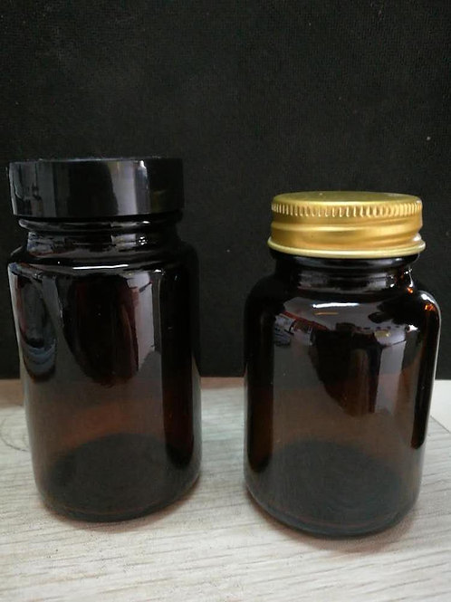 60ml 100ml amber glass jar