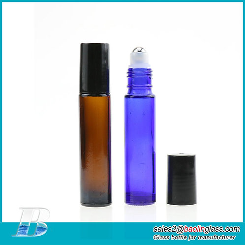 10ml Perfume Bottle Colorful Frosted Empty Roll On Bottle Refillable Roller