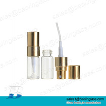 3ml Clear Tube Glass Perfume Sample Test Bottle with Spray Pump