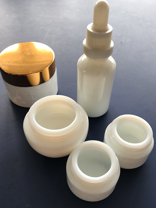 New opaque mini white jar 9ml 10ml 15ml
