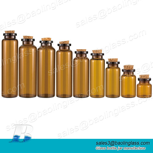empty 1ml 2ml 3ml 5ml 10ml 15ml 20ml 25ml 30ml amber clear mini glass vial
