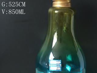 Wholesale 850ml 28oz bulb lamp shaped beverage glass juice bottle