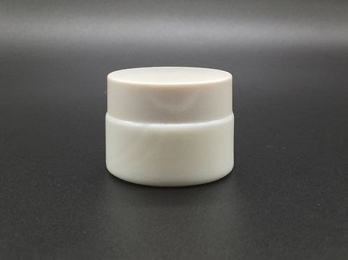 15ml 1/2oz skin care white glass jar