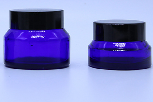 Blue Glass Cosmetic Jar 30ml
