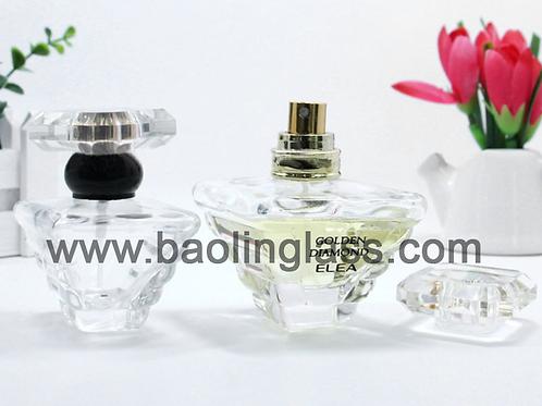 Crystal Fragrance Perfume Glass Bottle Designer Spray 50ml for Ladies