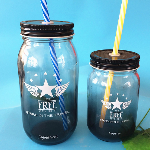 700ml glass milk tea mason jar wholesale